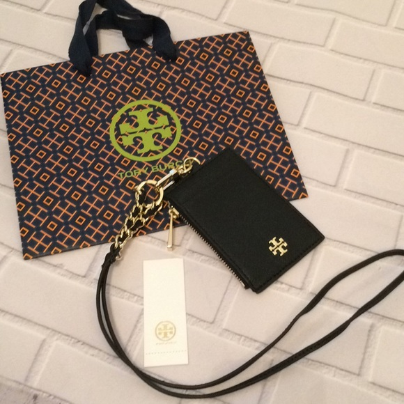 e6c4bff0fcc6 Tory Burch Emerson Lanyard (Black)